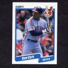 1990 Fleer Baseball #490 Dave Clark - Cleveland Indians