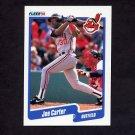 1990 Fleer Baseball #489 Joe Carter - Cleveland Indians