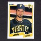 1990 Fleer Baseball #469 Jeff King - Pittsburgh Pirates