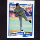 1990 Fleer Baseball #409 Fernando Valenzuela - Los Angeles Dodgers