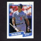 1990 Fleer Baseball #401 Mike Marshall - Los Angeles Dodgers