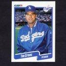 1990 Fleer Baseball #390 Tim Crews - Los Angeles Dodgers