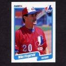 1990 Fleer Baseball #343 Mike Fitzgerald - Montreal Expos