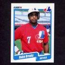 1990 Fleer Baseball #341 Hubie Brooks - Montreal Expos