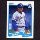 1990 Fleer Baseball #337 Bill Spiers - Milwaukee Brewers