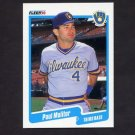 1990 Fleer Baseball #330 Paul Molitor - Milwaukee Brewers