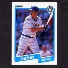 1990 Fleer Baseball #318 Greg Brock - Milwaukee Brewers