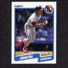 1990 Fleer Baseball #143 Johnny Ray - California Angels