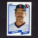1990 Fleer Baseball #142 Dan Petry - California Angels
