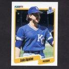 1990 Fleer Baseball #101 Luis Aquino - Kansas City Royals