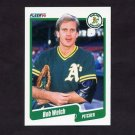 1990 Fleer Baseball #023 Bob Welch - Oakland A's