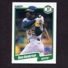 1990 Fleer Baseball #009 Dave Henderson - Oakland A's