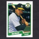 1990 Fleer Baseball #008 Ron Hassey - Oakland A's