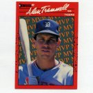 1990 Donruss Baseball Bonus MVP's #BC26 Alan Trammell - Detroit Tigers
