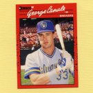 1990 Donruss Baseball #699 George Canale RC - Milwaukee Brewers