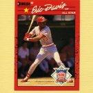 1990 Donruss Baseball #695B Eric Davis AS - Cincinnati Reds