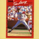 1990 Donruss Baseball #670 Tim Leary - Cincinnati Reds