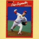 1990 Donruss Baseball #634 Cris Carpenter - St. Louis Cardinals