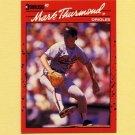 1990 Donruss Baseball #612 Mark Thurmond - Baltimore Orioles