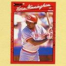 1990 Donruss Baseball #478 Herm Winningham - Cincinnati Reds
