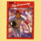 1990 Donruss Baseball #308 Tom Browning - Cincinnati Reds