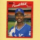 1990 Donruss Baseball #262 Frank White - Kansas City Royals