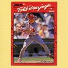 1990 Donruss Baseball #257 Todd Benzinger - Cincinnati Reds