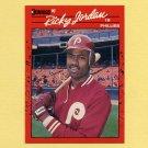 1990 Donruss Baseball #076 Ricky Jordan - Philadelphia Phillies