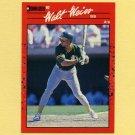 1990 Donruss Baseball #067 Walt Weiss - Oakland A's