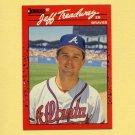 1990 Donruss Baseball #050 Jeff Treadway - Atlanta Braves