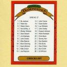 1990 Donruss Baseball #027 DK Checklist 1-27