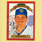 1990 Donruss Baseball #020 Chris Bosio DK - Milwaukee Brewers