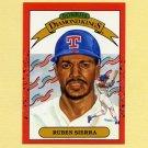 1990 Donruss Baseball #003A Ruben Sierra DK - Texas Rangers ERR