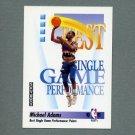 1991-92 SkyBox Basketball #308 Michael Adams - Denver Nuggets