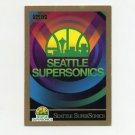 1990-91 SkyBox Basketball #352 Seattle Supersonics Team Checklist