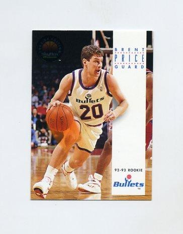 1993-94 SkyBox Premium Basketball #185 Brent Price - Washington Bullets