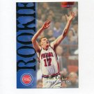1994-95 Hoops Basketball #321 Bill Curley RC - Detroit Pistons
