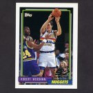 1992-93 Topps Basketball #394 Robert Werdann RC - Denver Nuggets