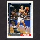 1992-93 Topps Basketball #343 Jeff Hornacek - Philadelphia 76ers