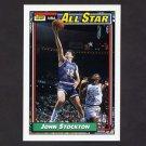 1992-93 Topps Basketball #101 John Stockton AS - Utah Jazz