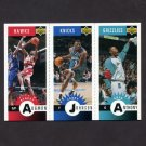 1996-97 Collector's Choice Basketball Mini-Cards #M085 Stacey Augmon/Larry Johnson/ Greg Anthony