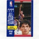 1991-92 Fleer Basketball #217 John Stockton AS - Utah Jazz Ex