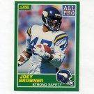 1989 Score Football #287 Joey Browner AP - Minnesota Vikings