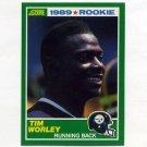 1989 Score Football #268 Tim Worley RC - Pittsburgh Steelers