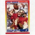 1990 Score Football #656 Peter Tom Willis RC - Chicago Bears