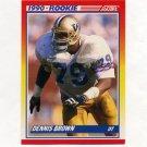 1990 Score Football #640 Dennis Brown RC - San Francisco 49ers