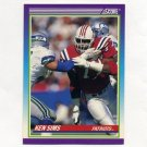1990 Score Football #489 Kenneth Sims - New England Patriots