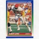 1990 Score Football #433 Albert Lewis - Kansas City Chiefs