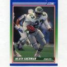 1990 Score Football #398 Heath Sherman RC - Philadelphia Eagles