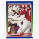 1990 Score Football #376 Roland James - New England Patriots